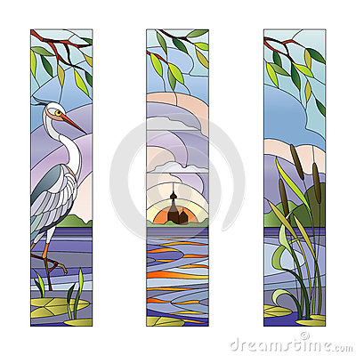Free Stained Glass With Heron Stock Photo - 74661520