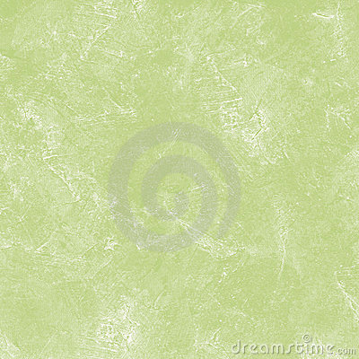 Stained green plaster wall