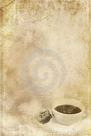 Stained Paper with Cup of Coffee