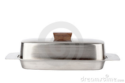 Stainless butterdish