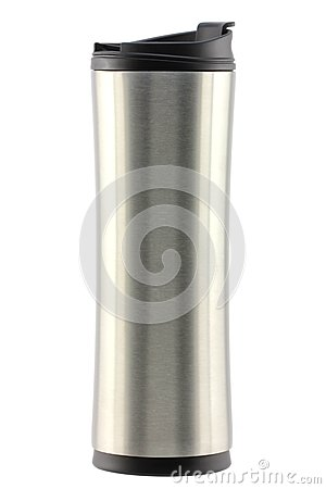 A stainless steel coffee tumbler (Thermo bottle)