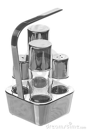 Stainless Steel Condiment Isolated
