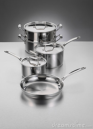 Free Stainless Steel Cookware Royalty Free Stock Photos - 13577608