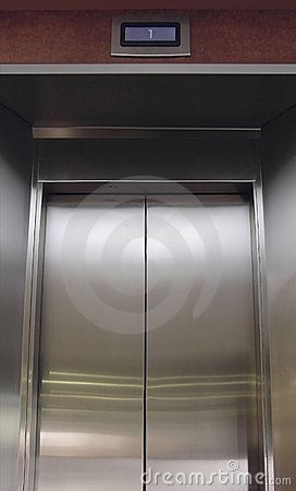Free Stainless Steel Elevator Doors Royalty Free Stock Photo - 4535025