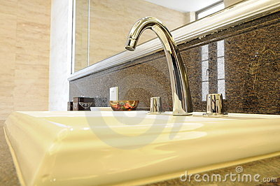 The stainless steel faucet