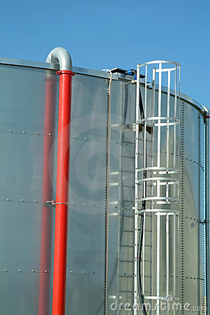 Stainless steel industrial oil reservoir