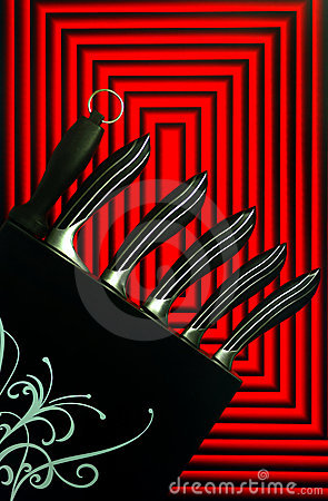 Stainless steel kitchen Knives graphic design