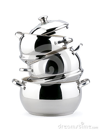 Free Stainless Steel Kitchenware Royalty Free Stock Photo - 26783835