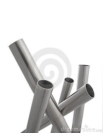 Stainless steel pipes vertical isolated