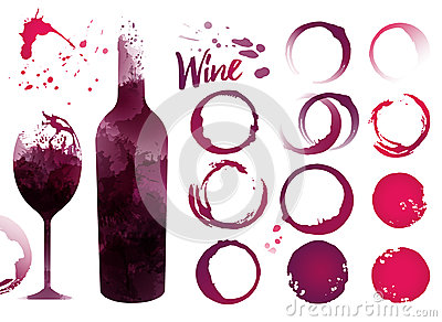 Stains set for your designs. Vector Illustration