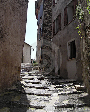 Stair s street  in Provence
