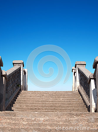 Stair and sky