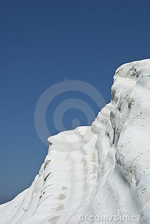 Stair of the Turkish, white mountain.Agrigento