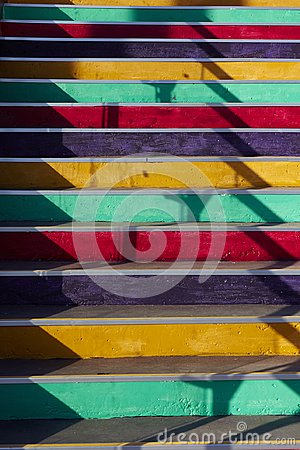 Free Stair With Colorful Steps Stock Images - 105678154