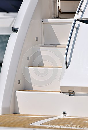 Stair of yacht