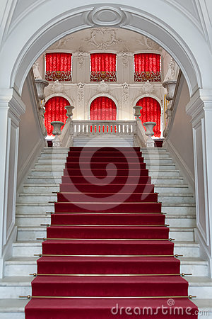 Staircase, the entrance to the palace