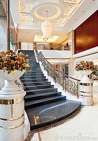 Staircase at the hotel lobby