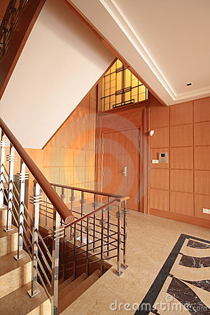 Staircase in a penthouse
