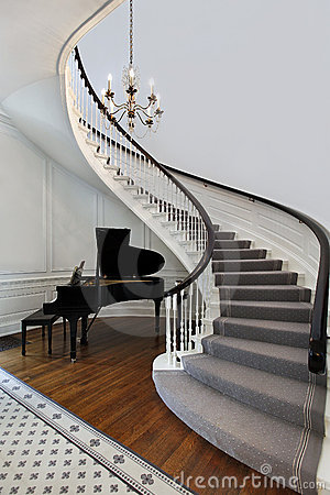 Staircase With Piano Stock Photography Image 13458432