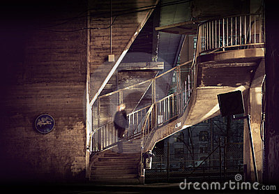 Staircase In Run Down Area Stock Photography - Image: 23661292
