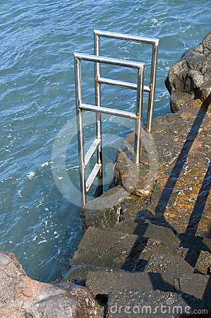 Staircase in the sea