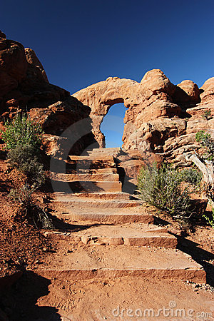 Staircase to Arch