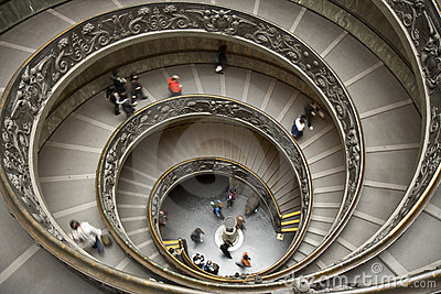 Staircase of the Vatican Museum Editorial Photography