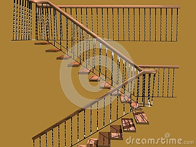 Staircase of white oak