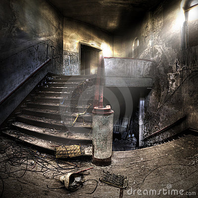 Free Staircases In An Abandoned Complex Royalty Free Stock Photography - 19646077
