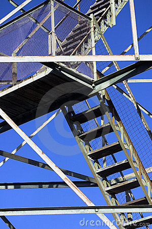 Free Stairs And Beams On Fire Tower Royalty Free Stock Photos - 1291278