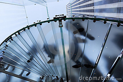 Stairs of the Apple store Glass Cube in New York Editorial Image