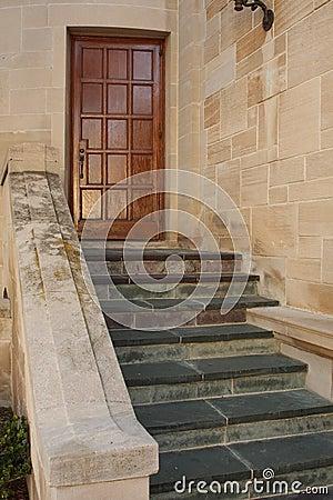 Stairs and bricks at mansion
