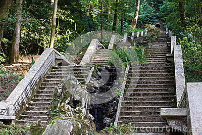 Stairs in garden of Serra do Bussaco, Portugal.