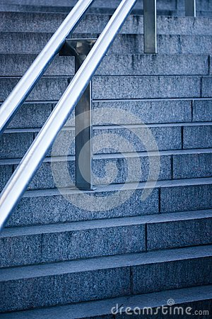 Stairs with handrail