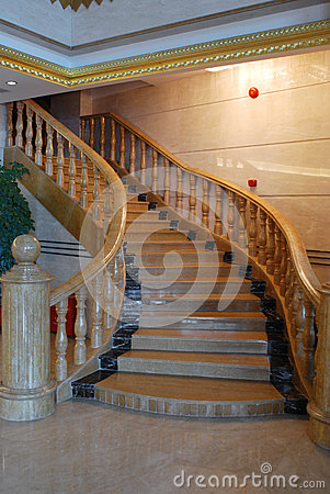Stairs in the hotel