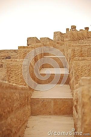 Stairs in Kerak Castle