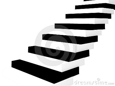 The Stairs-key on white.