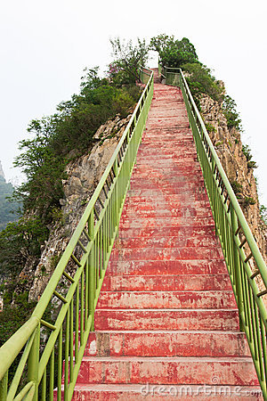 Stairs leading to the top