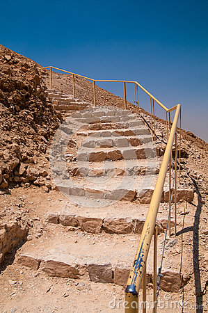 Free Stairs Leading Up The Snake Path At Masada Royalty Free Stock Photo - 64389225