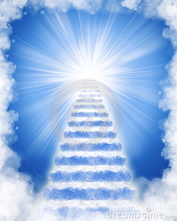 Stairs Made Of Clouds To Heaven Stock Photo Image 18241540