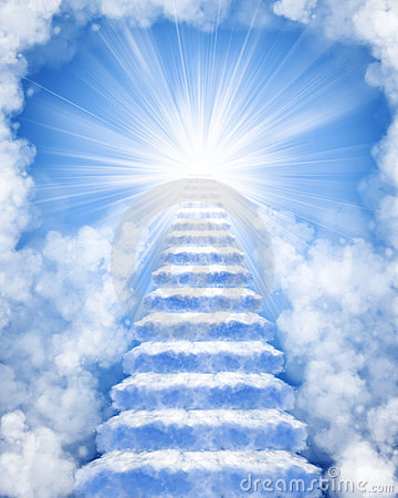 Free Stairs Made Of Clouds To Heaven Royalty Free Stock Photo - 18241525