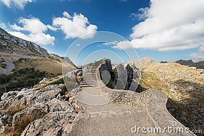 Stairs at Mallorca mountain Spain