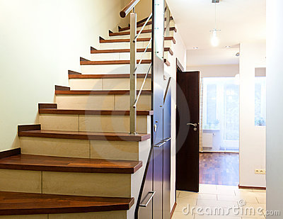 Stairs in modern home