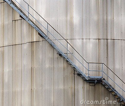 Stairs on oil silo