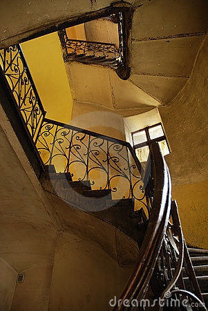 Stairs in old polish house