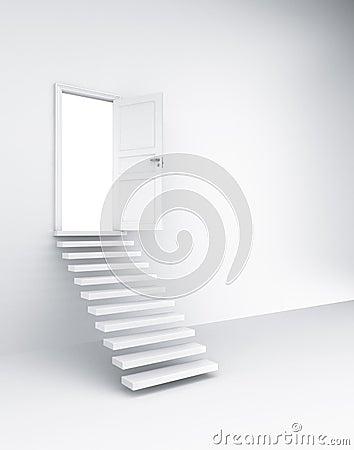 Stairs and open door