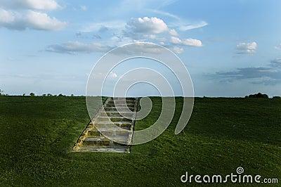 Stairs on an Open Hillside
