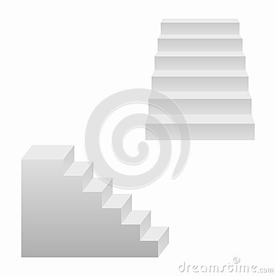 Free Stairs Set, 3d Realistic Staircases. Vector. Stock Photo - 108276620