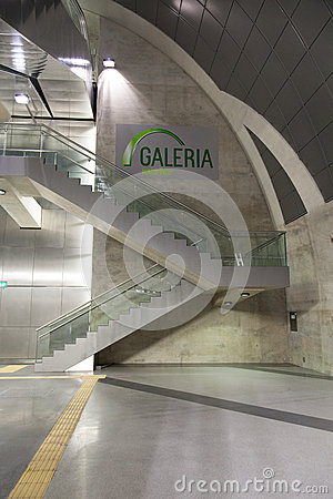 Stairs at Station Heumarkt in Cologne Editorial Stock Photo