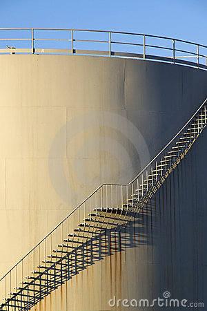 Stairs on storage tank